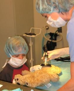 We educate children about animal care through programs like our Teddy Bear Surgery Day.
