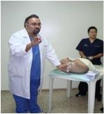 A BHI trainer teaches about cervical cancer in Santo Domingo, Dominican Republic (2011).