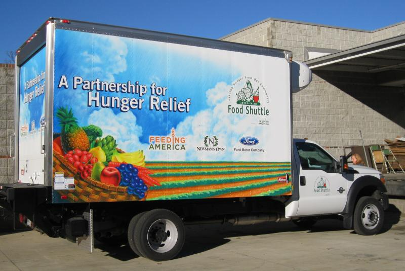 One of our refrigerated Food Recovery and Distribution trucks