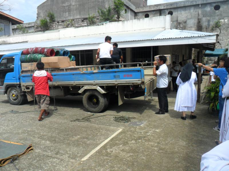 Relief goods and building materials provided by MQAN to the typhoon Haiyan/Yolanda victims.