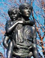 Boys Town's historic Two Brothers bears the words,