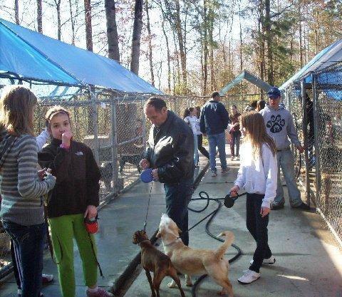 Birthday Party at Richardson Rescue.  Instead of gifts, this young girl asked for donations for the Rescue.  She also brought all of her friends for a day of visiting with our rescue babies.