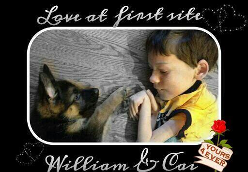 Service dog recipient