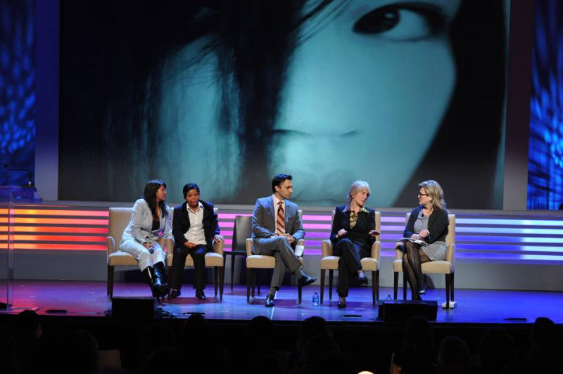 Virtue's Dr. Ebby Elahi speaking about Acid Violence at the Women in the World Summit