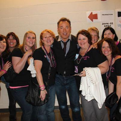 Pam's wish - to meet Bruce Springsteen