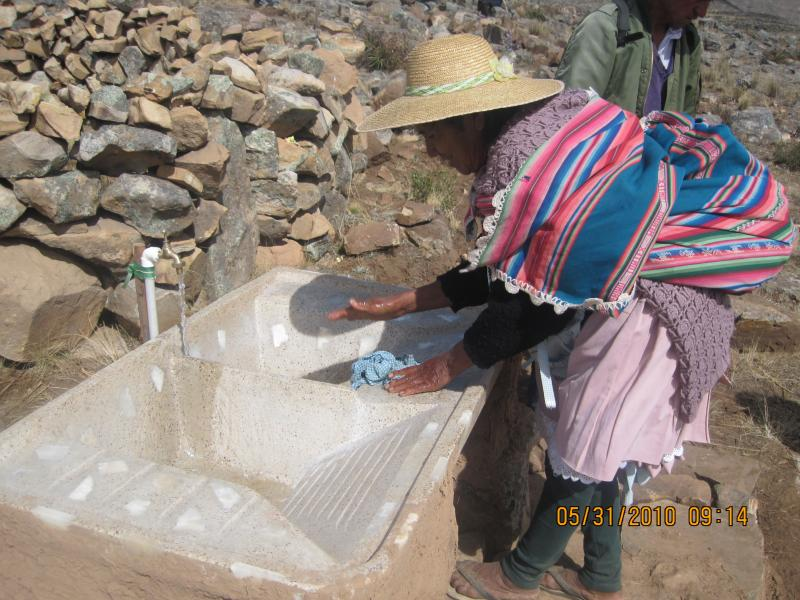 Accessible water in the mountains of Bolivia has made it much easier to stay hydrated, irrigate crops, and clean vegetables.
