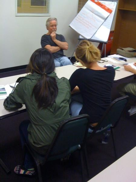 Girls in rehab at Phoenix House learn writing from Ron Osborn