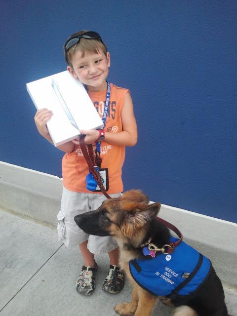 Service dog and iPad recipient