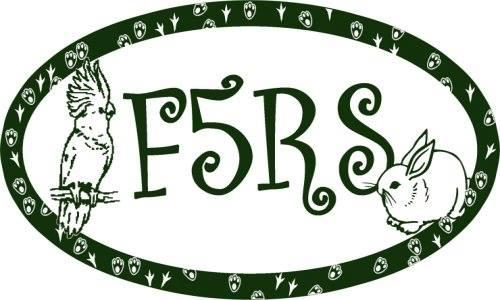 Frisky Ferrets, Fuzzies, & Feathered Friends  Rescue & Sanctuary (F5RS) Logo