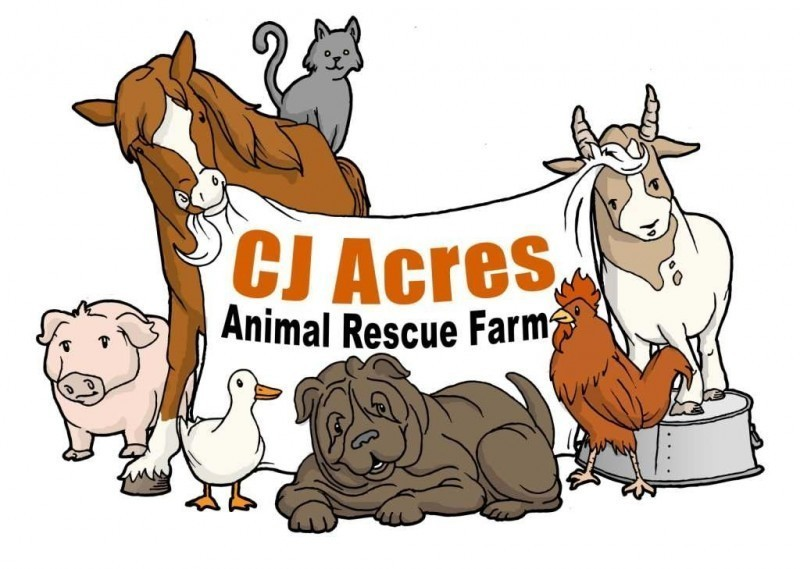 CJ Acres Animal Rescue Farm Logo