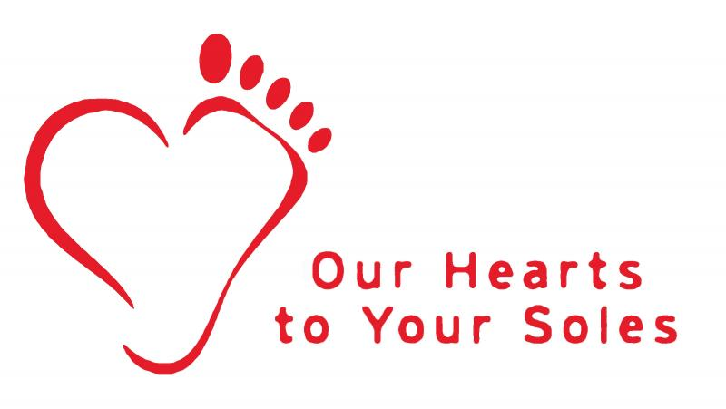 OUR HEARTS TO YOUR SOLES Logo