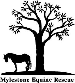 Mylestone Equine Rescue a New Jersey Non-Profit Corporation Logo