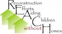 RECONSTRUCTION EFFORTS AIDING CHILDREN WITHOUT HOMES Logo
