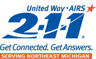 2-1-1 Northeast Michigan Logo