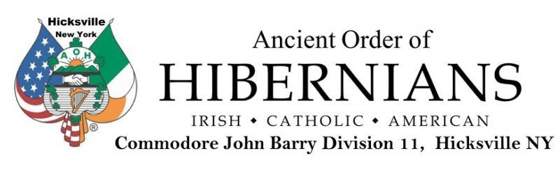 Ancient Order of Hibernians, Commodore John Barry Division 11, Hicksville NY Logo