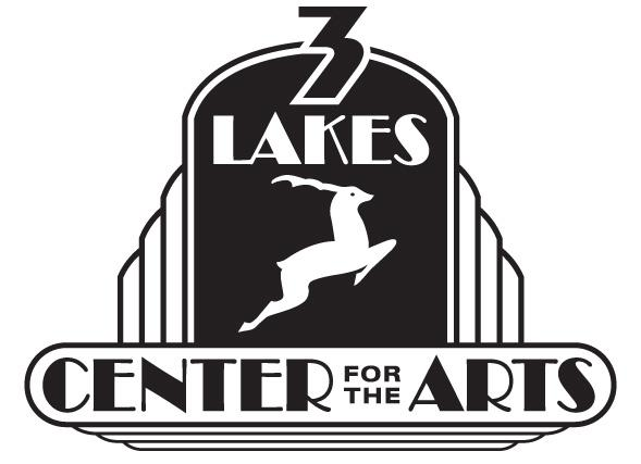 THREE LAKES CENTER FOR THE ARTS IN THE NORTHWOODS Logo