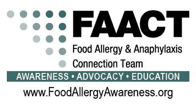 Food Allergy & Anaphylaxis Connection Team -FAACT Logo