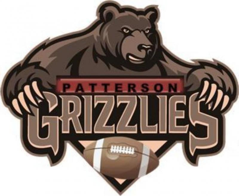Patterson Grizzlies Youth Football & Cheerleading Organization Logo