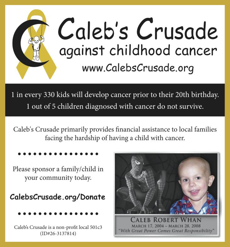 CALEB S CRUSADE FOR CHILDHOOD CANCER INC Logo