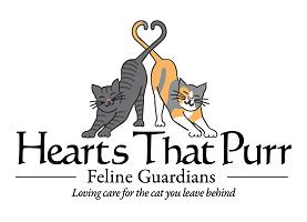Hearts That Purr Feline Guardians Logo