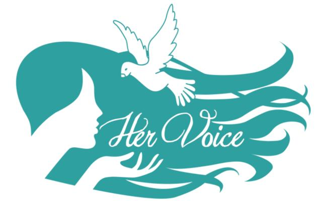 HER VOICE INC Logo