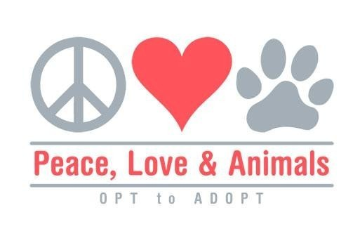 Peace, Love and Animals Logo