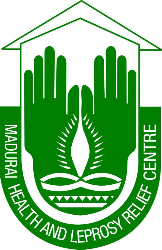 Madurai Health and  Leprosy Relief Centre. Logo