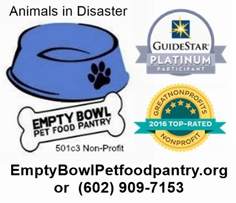 Animals in Disaster (AID),Empty Bowl Pet Food Pantry, Disaster Service Inc Logo