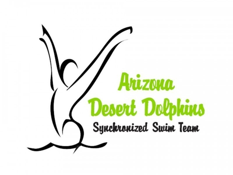 Arizona Desert Dolphins Synchronized Swim Team Logo