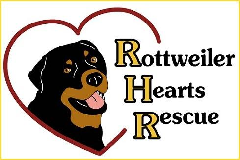 Rottweiler Hearts Rescue Logo