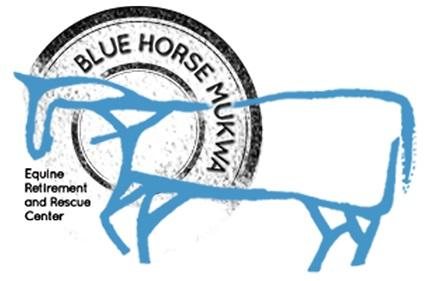 Blue Horse Mukwa Equine Retirement and Rescue Center Logo