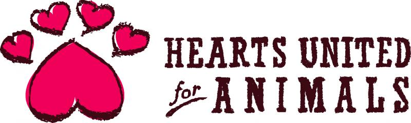 Hearts United for Animals Logo