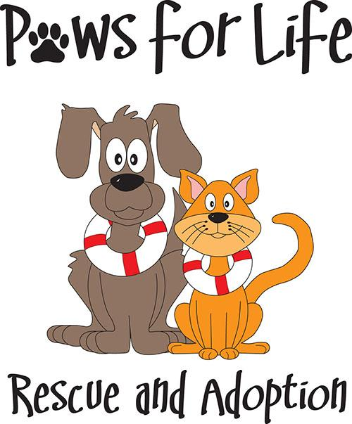 Paws For Life Rescue Logo