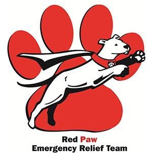 Red Paw Emergency Relief Team Logo