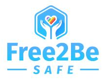 Free2Be (Free2Be LGBTQ Resource Center & Free2Be Safe Anti-Violence Project) Logo