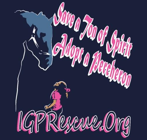 Iron Gait Percherons Inc. - Draft Horse Rescue Logo