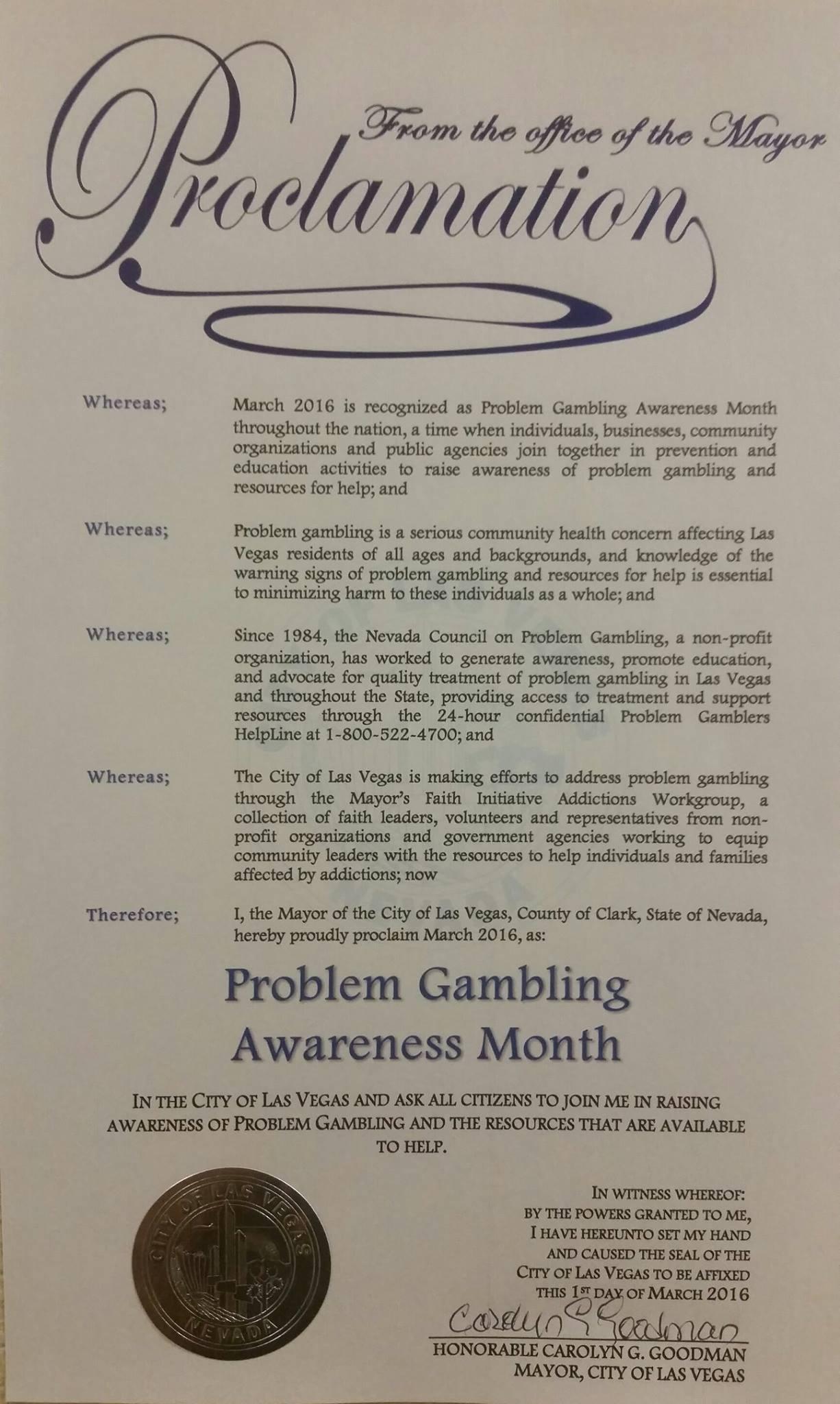 Nevada council problem gambling www 888 casino online com